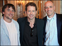 (l-r) Richard Linklater, Greg Kinnear and Eric Schlosser