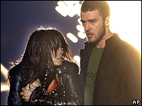 Janet Jackson and Justin Timberlake at the 2004 Superbowl