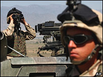 US troops in Khost, Afghanistan, looking for al-Qaeda and Taliban fights
