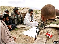 Canadian soldier in Afghanistan (file picture)
