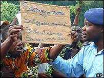 Protester in Benin