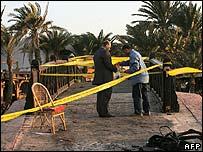 Dahab blast scene