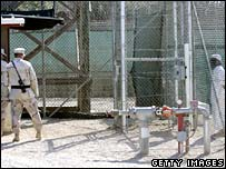 Guards and inmate of Camp 4 at Guantanamo