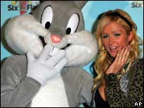Paris Hilton and Bugs Bunny, AP