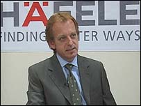 Hafele's  managing director in India, Jurgen Wolf,