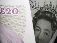 A twenty pound note