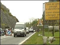 A5 road closure