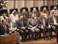 Iraqi Cabinet with PM Nouri Maliki (L)