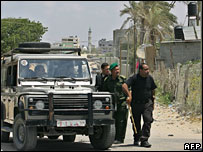 Palestinian security forces in Gaza - 20/5/06