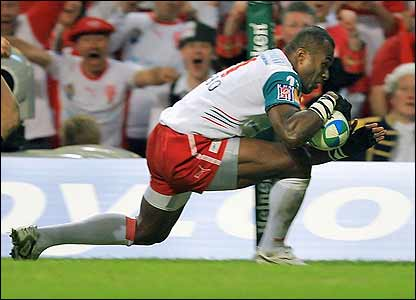 Sereli Bobo scores for Biarritz early on