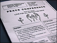 Peace conference poster