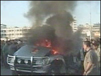 Scene shortly after blast in Gaza City - 20/5/06