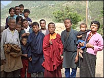 Villagers in Tempakha village in western Bhutan