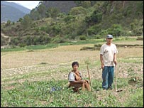 Farmers in Tempakha village in western Bhutan