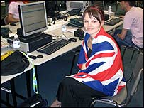 The BBC's Caroline Briggs at Eurovision