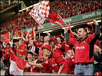 Munster fans go wild after their team wins the Heineken Cup