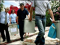 Ballot boxes distributed for Cyprus' election