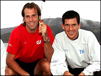 Britain's Greg Rusedski (left) and Tim Henman