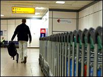 Passenger at Glasgow airport