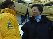Dee Caffari and the Princess Royal