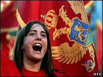Montenegrin pro-independence rally