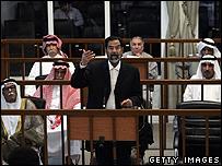 Saddam Hussein and his co-defendants