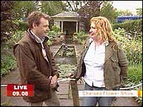Chris Beardshaw and Charlie Dimmock
