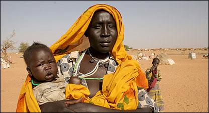 Mujer en Darfur