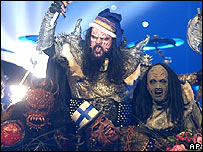Lordi win the 2006 Eurovision song contest