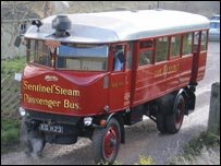 Lake District steam bus