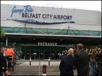 New signage on Belfast City Airport