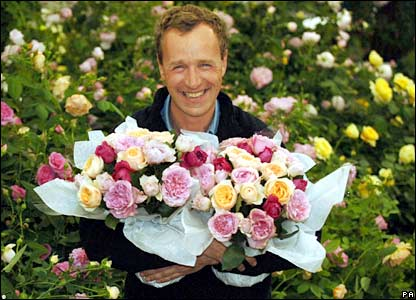 Leading rose grower David Austin