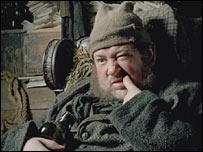 Actor Johnny Vegas as Krook in Bleak House