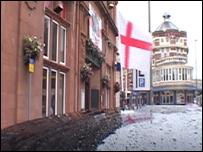 England flag on a taxi