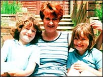 Mandy Power and her daughters