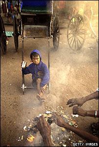 Barrio pobre de India
