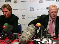 Simon Jordan and Iain Dowie