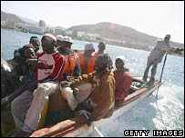 Would-be immigrants arrive at the Canary Islands