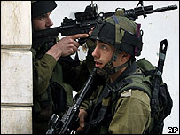 Israeli soldiers in the occupied West Bank (file picture)