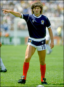 Charlie Nicholas in action for Scotland in Mexico in 1986
