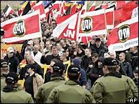 NPD rally in Rostock