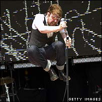 Kaiser Chiefs singer Ricky Wilson on stage