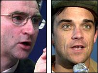 Martin O'Neill and Robbie Williams