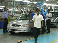 Hyundai factory in India