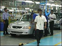 Hyundai factory in India