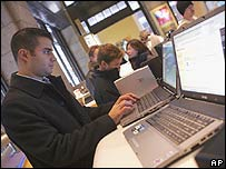 Man using a Sony Vaio
