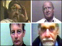 Trevor Haddock (top left), Derek Moody (top right), Ian Jones (bottom left), John Farmer (bottom right)