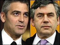 George Clooney and Gordon Brown