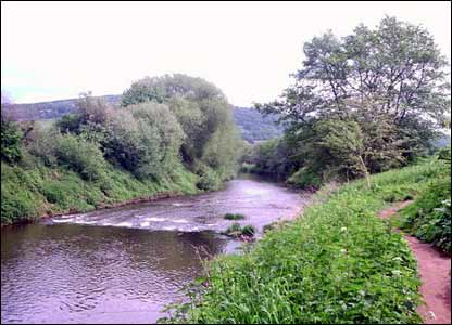 The river Monnow at Monmouth just before it joins the Wye (Picture by Bernard Rowlands)