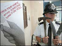 Police officer in Newcastle